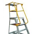 Gorilla Ladders GOP04 - 1.2m 200kg Industrial Aluminium Order Picking Ladder Platform Ladders & Order Pickers