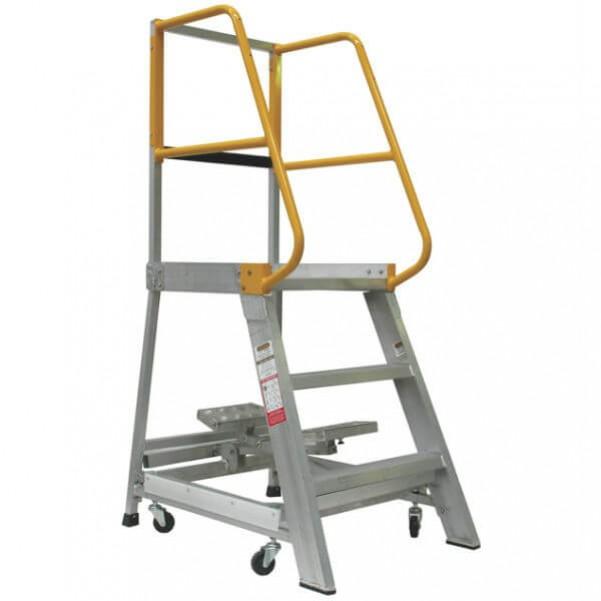 Gorilla Ladders GOP03 - 0.9m 200KG Industrial Aluminium Order Picking Ladder Platform Ladders & Order Pickers