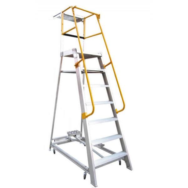Gorilla Ladders GOP07 Order Picking Ladder 2100mm 200kg Rated Aluminium Platform Ladders & Order Pickers