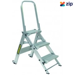 Gorilla GOR-3STAIR - 150kg Industrial 3 Step Stair Aluminium Step Ladder Step Ladders