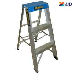 Gorilla Ladders M003-C - 0.9m 120KG Gorilla Single Sided Step Ladder Industrial   Step Ladders