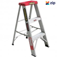 Gorilla Ladders M003-D - 0.9m 120Kg Domestic Aluminium Single Sided Step Ladder