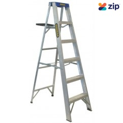 Gorilla Ladders M006-I Single Sided Ladder 1800mm 150kg Rated Aluminium Step Ladders
