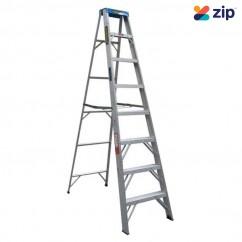 Gorilla Ladders M008-C - 2.4m 120Kg Industrial Aluminium Single Sided Step Ladder