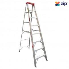 Gorilla Ladders M008-D - 2.4m 120Kg Domestic Aluminium Single Sided Step Ladder
