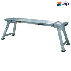 Gorilla Ladders MW010-I450 Work Platform Extendible Wide 600-900mm Height 150kg Rated Alumi Work Platforms, Trestles & Planks