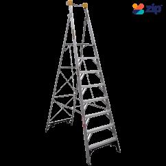 Gorilla Ladders PL008-I - 2400mm 150kg Rated Aluminium Platform Ladder Platform Ladders & Order Pickers