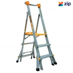 Gorilla Ladders PL0304-HD- 0.9-1.2m 180kg Aluminium Adjustable Platform Ladder Platform Ladders & Order Pickers