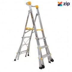 Gorilla Ladders PL0406-HD- 1.2-1.8m 180kg Aluminium Adjustable Platform Ladder Platform Ladders & Order Pickers