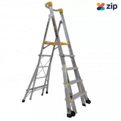 Gorilla Ladders PL0508-HD - 1.5-2.4m 150kg Aluminium Adjustable Platform Ladder