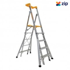 Gorilla Ladders RPL0508-I -1.5m - 2.4m 150kg Compact Aluminium Adjustable Platform Ladder