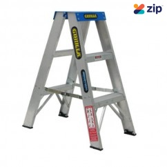 Gorilla Ladders SM003-C Double Sided Ladder 900mm 120kg Rated Aluminium Step Ladders