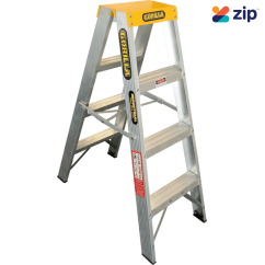 Gorilla Ladders SM004-I Double Sided Ladder 1200mm 150kg Rated Aluminium Step Ladders