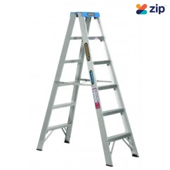Gorilla Ladders SM006-C - 1.8m 120kg Double Sided Aluminium Step Ladder Step Ladders