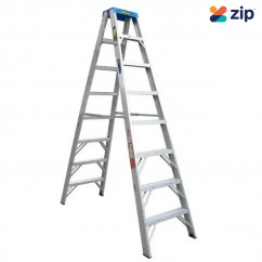 Gorilla Ladders SM008-C - 2.4m 120kg Double Sided Aluminium Step Ladder Step Ladders