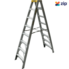Gorilla Ladders SM008-I Double Sided Ladder 2400mm 150kg Rated Aluminium Step Ladders