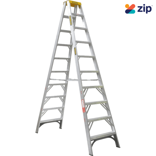 Gorilla Ladders SM010-I Double Sided Ladder 3000mm 150kg Rated Aluminium Step Ladders
