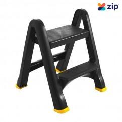 Gorilla GOR-2PL - 0.4m 100kg 2 Step Domestic Plastic Household Ladder Step Ladders