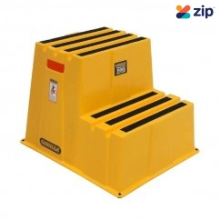Gorilla GOR-2STEP - 150kg 2-Step Safety Industrial Yellow Stair Step Ladders