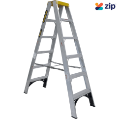 Gorilla Ladders SM006-I - 1800mm 150kg Rated Aluminium Double Sided Ladder Step Ladders