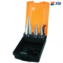 ALCOCK D1071 - 3 Piece Sheet Metal Step Drill Set Promotion