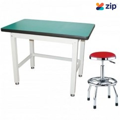 Hafco IWB-12P0 - 1200mm x 750mm x 900mm 1000kg Table Top Load Capacity Industrial Work Bench & Stool Set K0411 Work Benches & Stands
