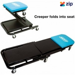 Hafco MCW-47C - 1200mm Back Rest 150kg Weight Capacity Heavy Duty 2 in 1 Mechanics Creeper & Seat Combination A006 Mechanics Creepers & Stools
