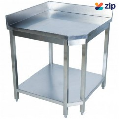 Hafco SSB-CNR - 700 x 700 x 900mm 350kg Total Load Capacity Stainless Steel Corner Work Bench F305
