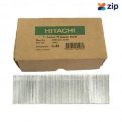 Hitachi C45 - 45mm C-Series 16 Gauge Electro Galvanised Finish Nails Pack of 5000 Hitachi Accessories
