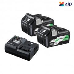 HiKOKI 36VSTARTERPACK2Z - 18V - 36V 2x5.0Ah - 2.5Ah MultiVolt Battery Rapid Charger Pack