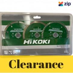 HiKOKI (Hitachi) 797230 - 125 x 22.23mm 3 Piece Diamond Wheel Pack