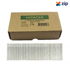 Hitachi C25 - 25mm C-Series 16 Gauge Electro Galvanised Finish Nails Pack of 5000  Hitachi Accessories