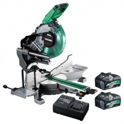 "HiKOKI C3610DRA(HAZ) - 36V Multivolt 255mm (10"") Cordless Brushless Slide Compound Miter Saw Combo Kit Mitre Saws"