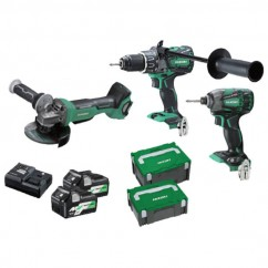 HiKOKI KC36DDBL(HRZ) - 18V/36V MultiVolt Cordless Brushless 3 Piece Combo Kit