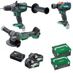 HiKOKI KC36DRBL(HRZ) - 36V 5.0Ah/2.5Ah Brushless Cordless 3 Piece Combo Kit