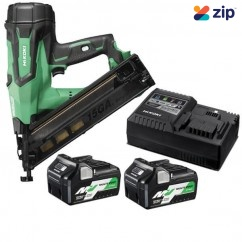 HiKOKI NT1865DBAL(HRZ) - 18V 65mm 15Ga Cordless Brushless Finish Nailer Kit Nailers & Staplers