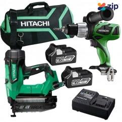 Hitachi PACK355 - 18V 6.0Ah Cordless Brushless 2pce Combo Kit