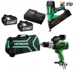 Hitachi PACK356 - 18V 6.0Ah Cordless Brushless 2pce Combo Kit
