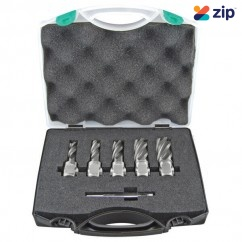 Holemaker ASSET-A - 5PC Silver Series Metric Short Annular Cutter Set Magnetic Drill Broach Cutters