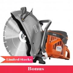 "Husqvarna K 970 MKIIIB1 - 400mm (16"") 4.8kW Power Cutter with 1x Husqvarna Blades Cutting"