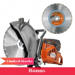 "Husqvarna K 970 MKIIIB2 - 400mm (16"") Power Cutter with 2 Husqvarna Blades Cutting"