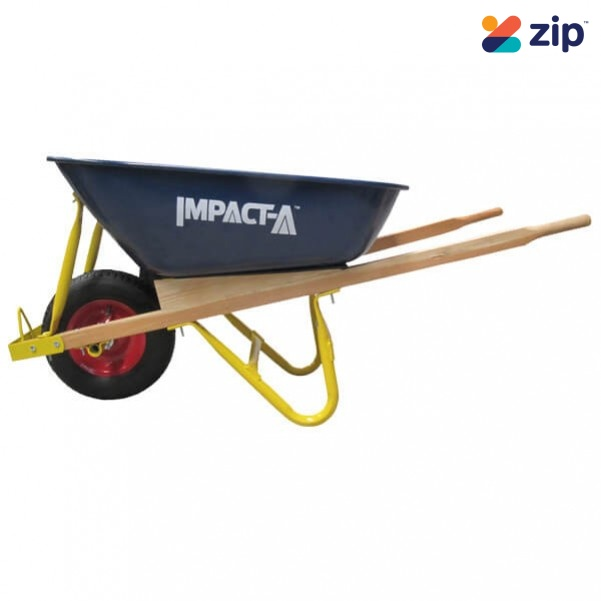 IMPACT-A 28902 - Steel Tray Wheelbarrow, Timber Handle STD Pneumatic Tyre