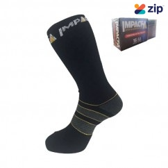 IMPACT-A 29024 - Size 2-8 Black Twin Pack Work Socks Other Safety Apparel