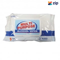 IMPACT-A #AL005-1 - 50PK 75% Alcohol Multi Purpose Wipes 29137 Cleaning Products