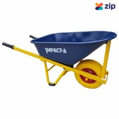 "IMPACTA WBMETPP - 100L FAT 4 Ply 16x6.5"" Wheel Blue Metal Tub WheelBarrow  Wheelbarrows & Trolleys"
