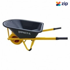 "IMPACTA WBPLASPP - 100L 16x6.5"" Wheel FAT 4 Ply Plastic Tub Black Wheel Barrow Wheelbarrows & Trolleys"