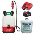 Milwaukee M18BPFPCSKIT - 18V 5.0Ah Cordless Backpack Chemical Sprayer Kit w/ IMPACT-A 20L Disinfectant Sprayers