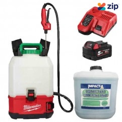 Milwaukee M18BPFPCSKIT - 18V 5.0Ah Cordless Backpack Chemical Sprayer Kit w/ IMPACT-A 20L Disinfectant Sprayers