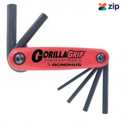 Bondhus 12595 - 6 Piece Gorillagrip Foldup Metric Hex Key Set