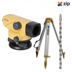 Topcon AT-B4-KIT - 24X Magnification Auto Leveling Dumpy Kit Inc tripod & Staff